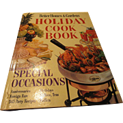 "Mid Century ""Better Homes & Gardens Holiday Cookbook"" Special Occasions 1959"