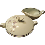 Noritake Harwood Pattern 1960s Sugar Bowl and Creamer Maple Leaf