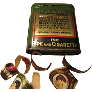 Half & Half Tin Pat. July 23, 1930 Pipe and Cigarette Tobacco