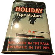 Holiday Pipe Mixture Vintage Tin
