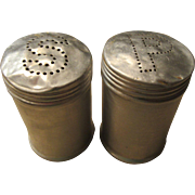 1960s Aluminum Range or Picnic Salt and Pepper Shakers