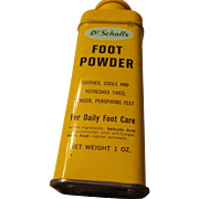 Dr. Scholl's Foot Powder Vintage Tin 1 oz.