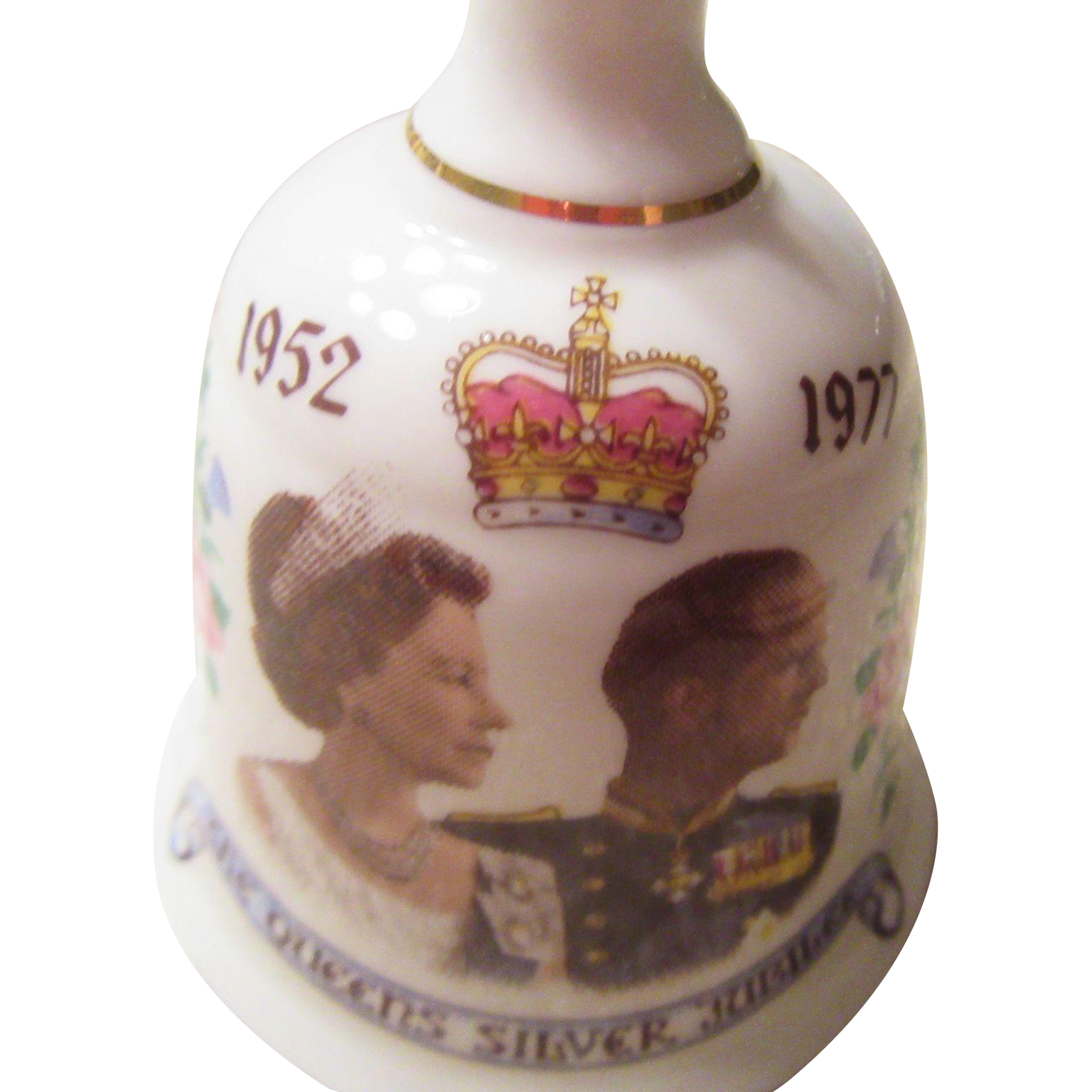 1977 The Queens Silver Jubilee Bone China Bell
