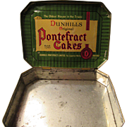 Vintage Dunhills Original Pontefract Cakes Tin from England