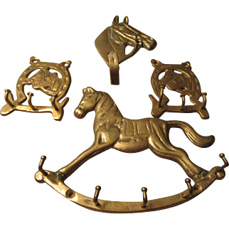 Brass Horse Western and Decorative Vintage Items