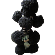 1950s Poodle Crocheted Liquor Bottle Cover for Corkscrew Whiskey
