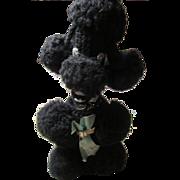 1950s Poodle Crocheted Liquor Bottle Cover for Corkscrew Whiskey