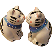 Vintage Cat Salt and Pepper Shakers -Coco Dowley Cert. Int.