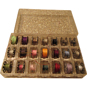 Sewing Machine Bobbin Case with 21 Bobbins and Lid
