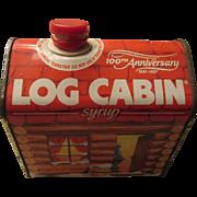 Log Cabin 1987 100th Anniversary Syrup Tin-Display