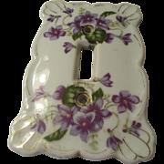 Lefton Vintage Switch Plate Violet Pattern