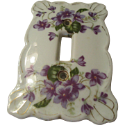 Lefton Vintage Switch Plate Violet Pattern