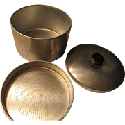 1950s Grease Tin Strains and Stores Bacon Grease