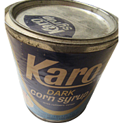 Karo Dark Corn Syrup Tin 55 Ounces Front Label