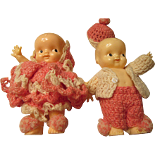 Irwin Celluloid Talc Dolls 1930s to 1940s in Clothing