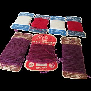 Bucilla 'Heel 'n Toe Yarn and Needlepoint Crewel Wool Seven Cards