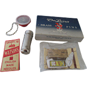 De Long Dressmaker Pins, Watson's Needles & Needle Case Etc.