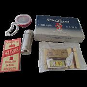 De Long Dressmaker Pins, Watson's Needles & Needle Case Etc.