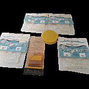 Real Silk Hosiery Mending, Sewing Tape Measure, St. Louis Simulated Pearls