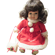 Christmas Decorative December Doll Porcelain Face