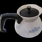 Corning Ware 6 Cup Teapot Cornflower Pattern