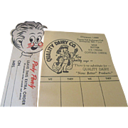 Quality Dairy and Pevely Dairy Home Delivery Forms 1950s