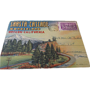 1953 Oregon-California Shasta-Cascade Nine Fold Out Postcards