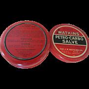 Watkins Petro-Carbo Salve 2 7/8 Ounce Tin