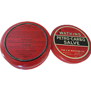 Watkins Petro-Carbo Salve 2 7/8 Ounce Tin
