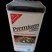 Nabisco Premium Cracker Tin U.S.A. 1985