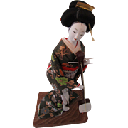 1960s Geisha Doll Musician Dressed to Perform in Kyoto