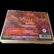 C. Monet Playing Cards Austria by Piatnik Complete Decks