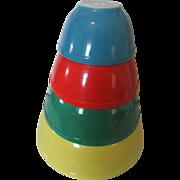 1950s Pyrex Primary Color Bowl Set-Excellent Condition