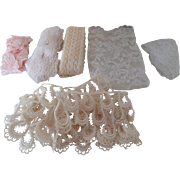 Assortment of Vintage Lace Edging in a Lace Bag