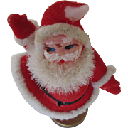 1960s Small Santa with Santa mugs, Pipe Cleaner Bells and a Hat