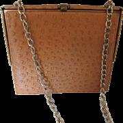 Ostrich Handbag by Nicholas Reich Six Baer & Fuller Shoulder Purse 1940s
