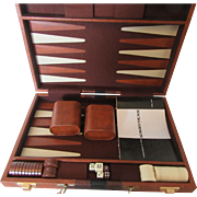 1970s Backgammon Set Complete with Case