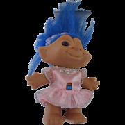 Blue Hair TT Troll Doll 1980s