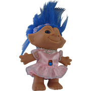 Blue Hair TT Troll Doll 1980s