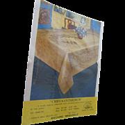 """Japanese """"Chrysanthemum"""" Damask Tablecloth Matching Napkins"""