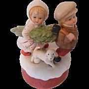 "Vintage Music Box ""O Christmas Tree"" Darling Children"