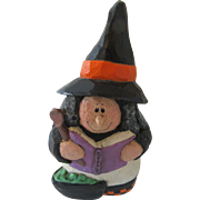 Eddie Walker Vintage Halloween Witch Carved Wood