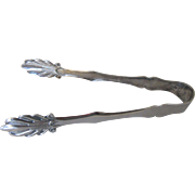 Buffet Server or Ice Tongs Silver Plate Vintage Pattern