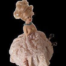 1930s Porcelain Doll Torso & Base Pin Cushion