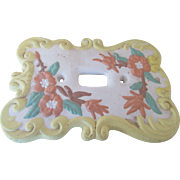 Vintage Floral Switch Plate Hand Painted