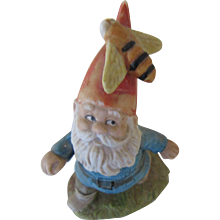 1979 Enesco Gnome with Bumble Bee Figurine