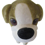 1960s Bobble Head Dog with Felt Like Fur