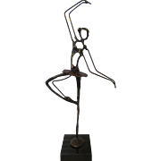 Ballerina Model Bronze Metal with Marble Stand