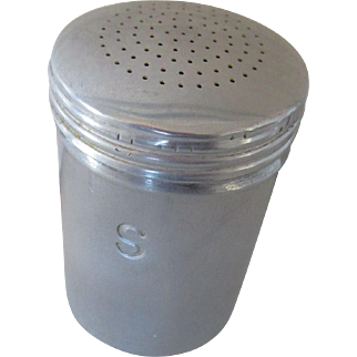Vintage Aluminum Range Top Salt Shaker 1950s