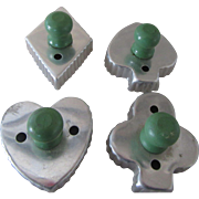 Vintage Cookie Cutters with Green Knobs 1940s Perfect for Card Group
